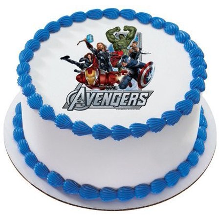 The Avengers Marvel Super Heroes Personalized Edible Cake