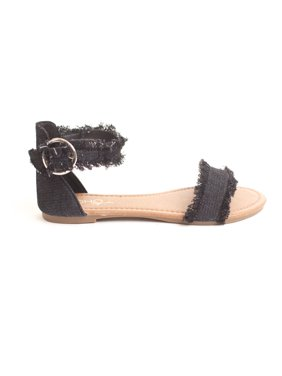 d983d658 Product Image Soho Shoes Girls Kids Denim Flat Strappy Summer Beach Sandal