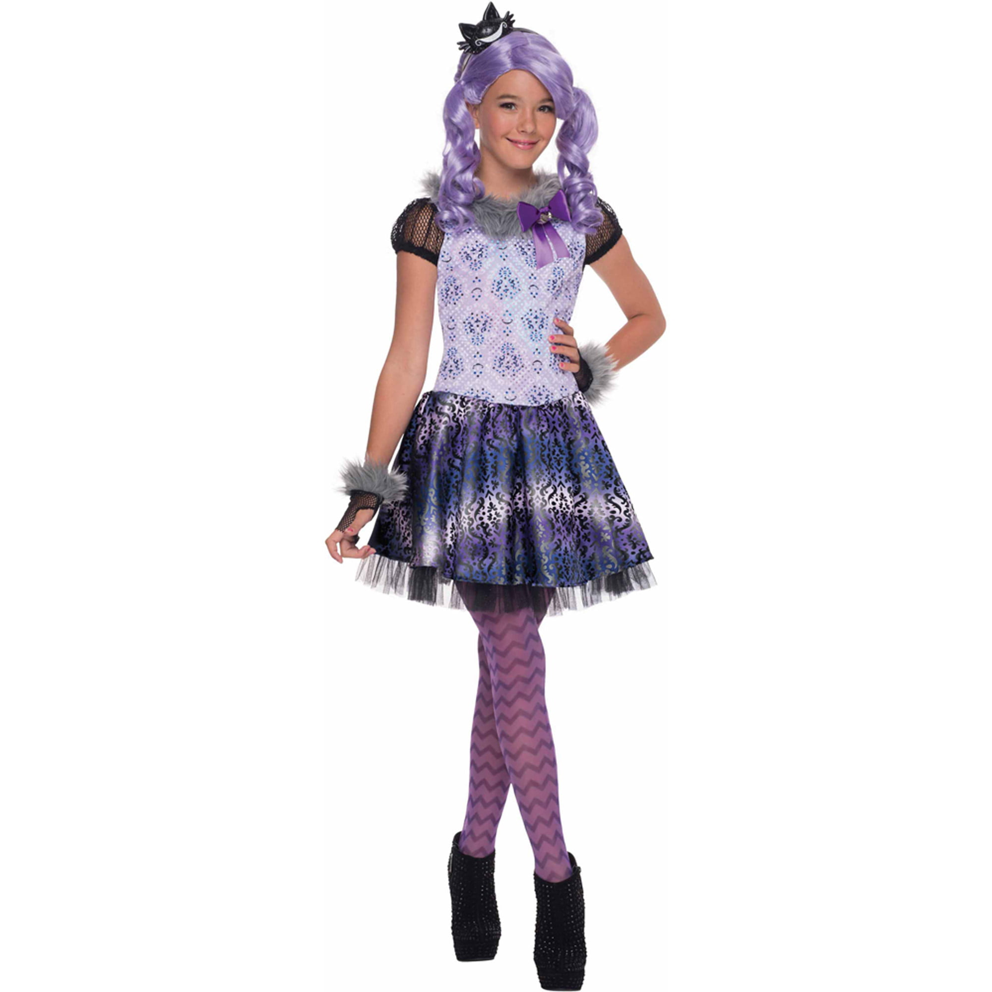 Monster High  Kitty Cheshire  Girls Dress Halloween Costume - Walmart.com  sc 1 st  Walmart : girls halloween cat costumes  - Germanpascual.Com