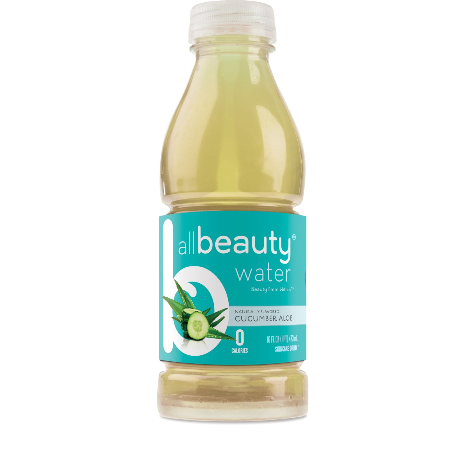 All Beauty Water Skincare Drink - Cucumber Aloe - 16 oz -...