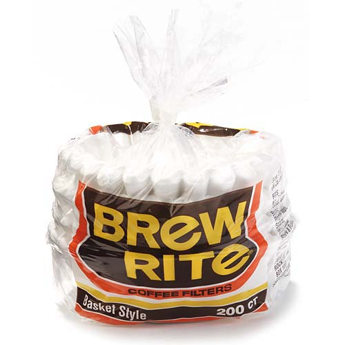 Brew Rite 12-Cup Basket-Style Coffee Filters, 200 count