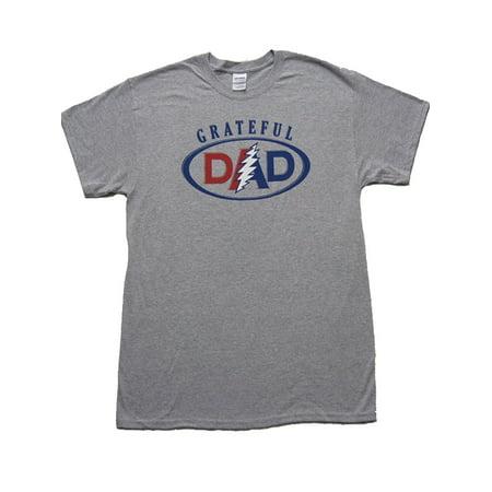 e3679bfc1 Buy Cool Shirts - Men's Grateful DAD T-shirt - Heather Grey, XL -  Walmart.com