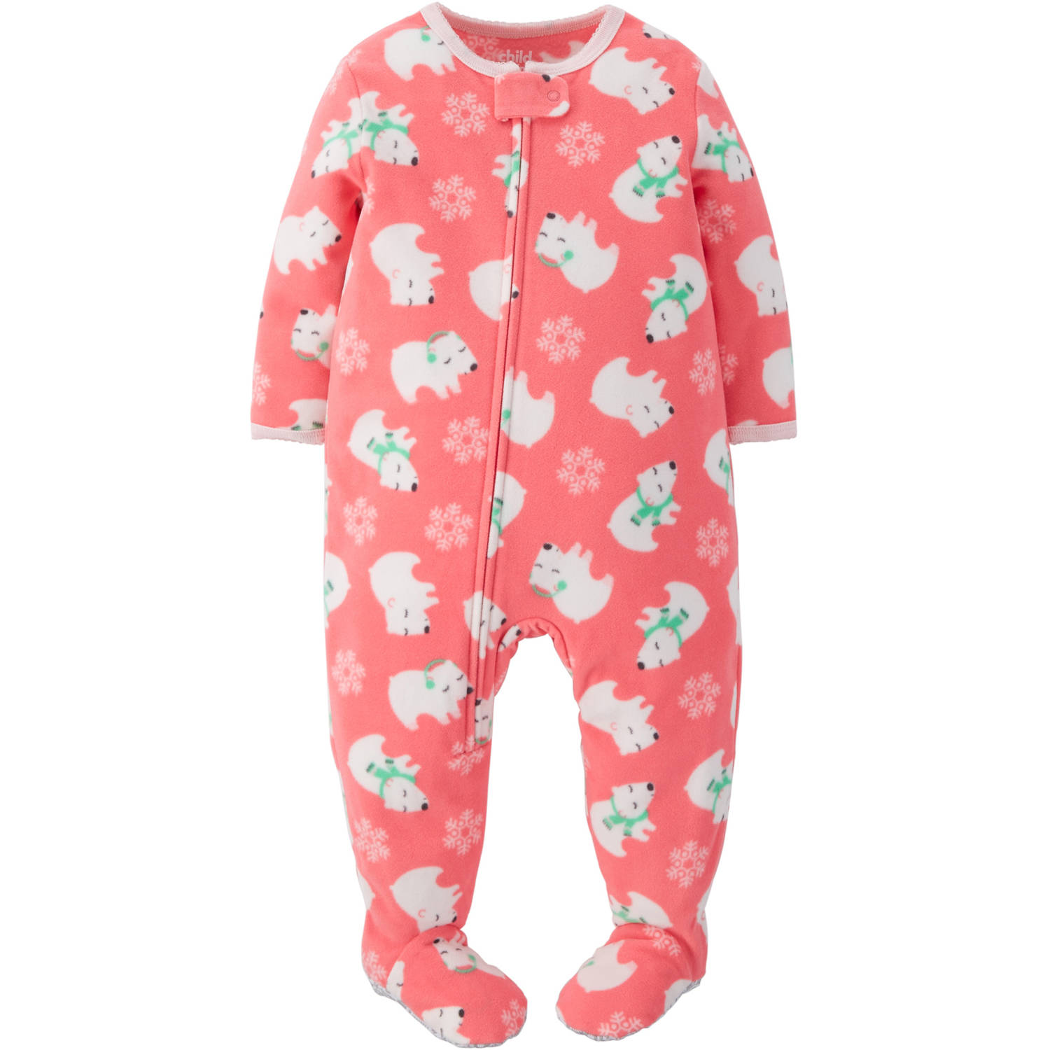 Child Of Mine by Carter's Baby Toddler Girl Fleece Footed Pajamas ...
