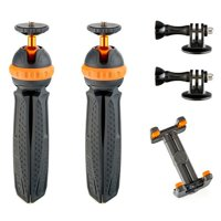 3 Legged Thing Dual Iggy Mini Action Tripod with GoPro Mount and Phone Holder, 2.6 Lbs Capacity