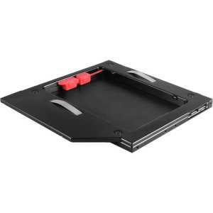 Vantec MRK-HC95A-BK SSD or HDD Aluminum Caddy for 9 5mm ODD Laptop Drive  Bay, Black