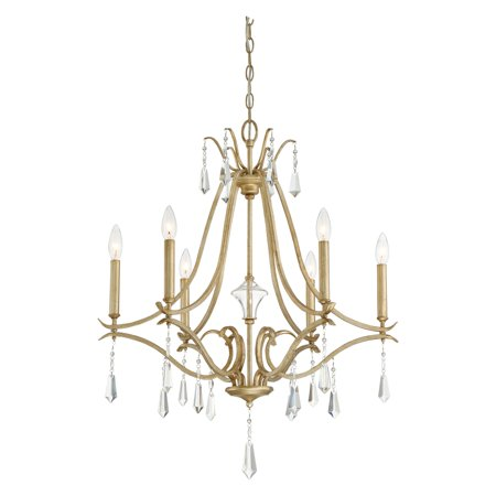Minka Lavery Laurel Estate 6 Light Chandelier - Brio Gold