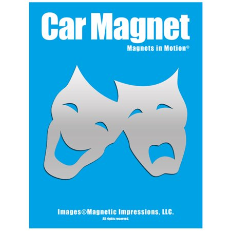 Motion Mask (Comedy Tragedy Mask Car Magnet)