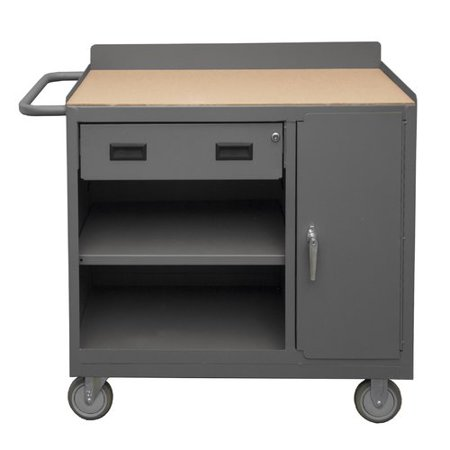 Durham Manufacturing Mobile 36''W Wood Top Workbench (Manufacturing Mobile)