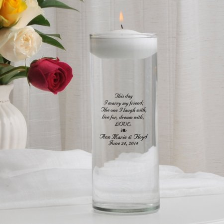 Personalized Memorial Unity Candle (Personalized Floating Unity Candle )