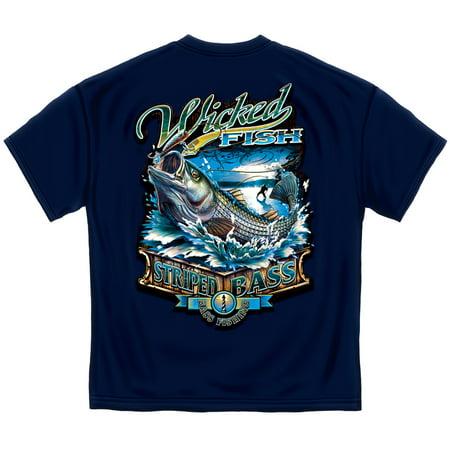 - Fishing T-Shirt Wicked Fish Stripper Bass XX-Large