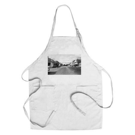 West Branch, Michigan - Eastern End of City Street Scene (Cotton/Polyester Chef's Apron) (Party City West Broad Street)