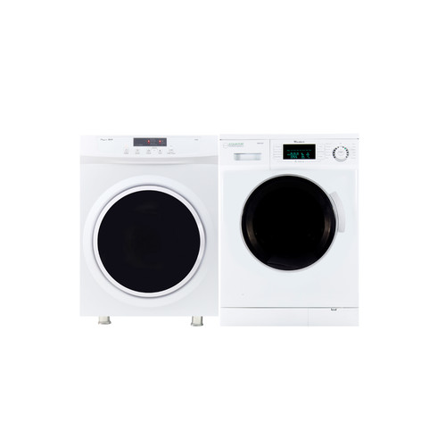 Equator Stackable set of 1.6 cu.ft Compact Super Washer & 3.5 cu.ft Compact Short Dryer