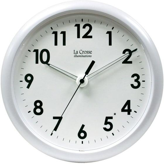 403 310 10 Inch Wall Clock With Glowing Hands Walmartcom