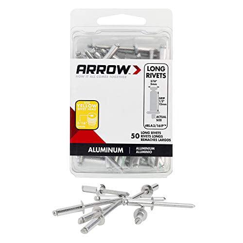 Arrow Fastener Rla3 16ip Long Aluminum 3 16 Inch Rivet 50 Pack Walmart Com