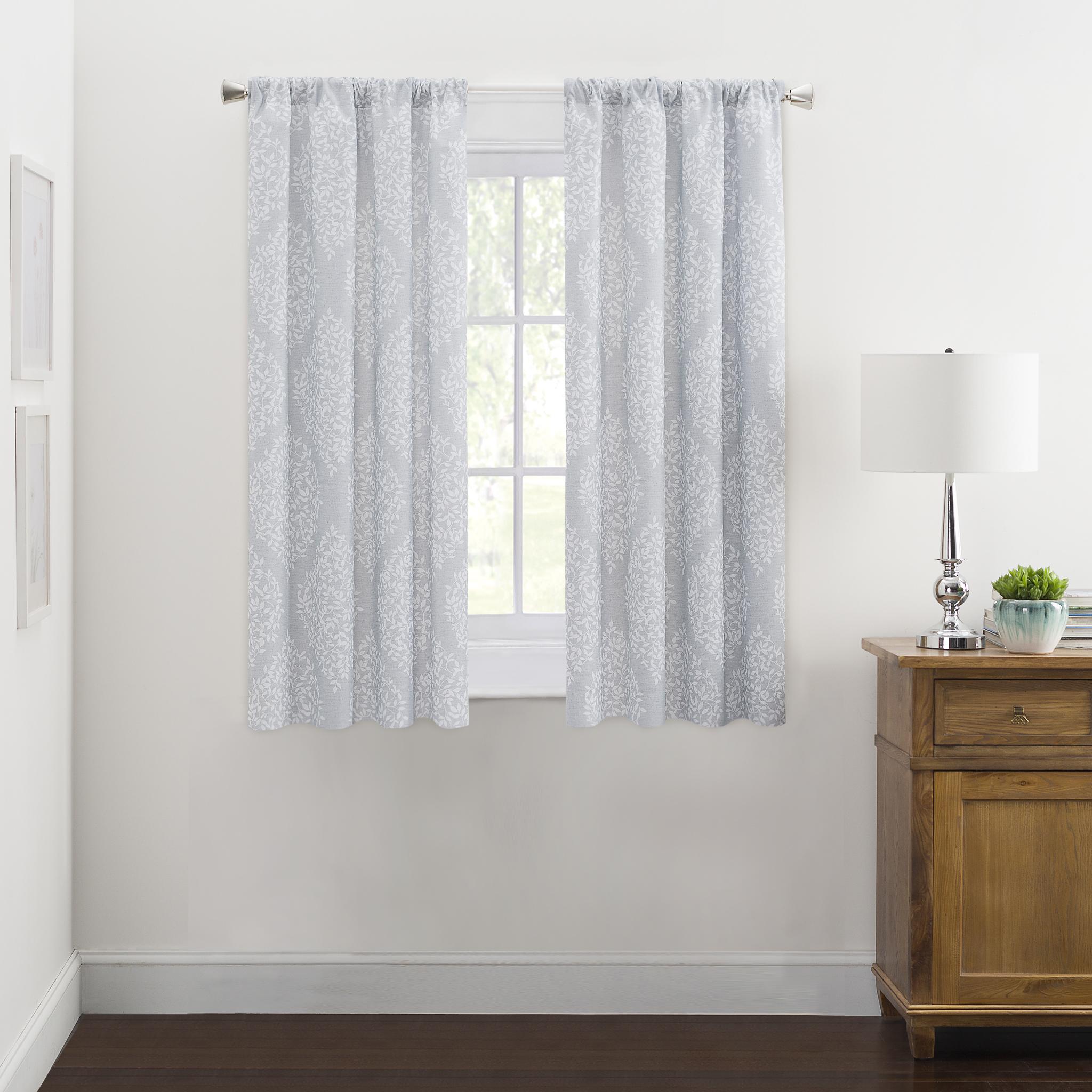 Mainstays Leaf Medallion Window Curtains, Set of 2