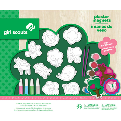 Girl Scouts Plaster Magnets Craft Kit