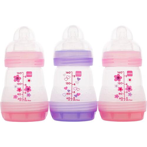 MAM - Girls' 5-oz. Bottle Gift Set, 3-Pack, BPA Free