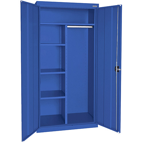 "Elite Series Combination Cabinet with Adjustable Shelves, 46""W x 24""D x 72""H, Blue"