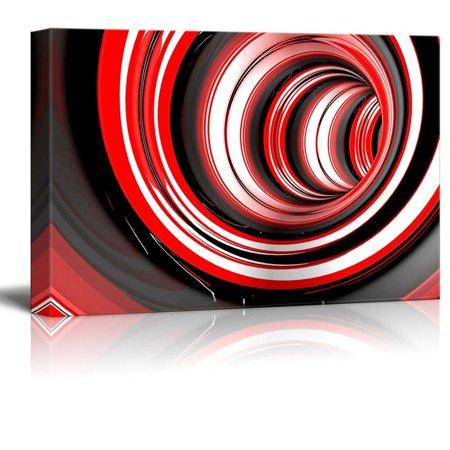 Canvas Prints Wall Art - Abstract Striped 3d Circles | Modern Home Deoration/Wall Decor Giclee Printing Wrapped Canvas Art Ready to Hang - 12