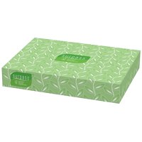 Surpass Facial Tissue Flat Box (21340), 2-Ply, White, Unscented, 100 Tissues / Box, 30 Boxes / Big Case By KimberlyClark Professional