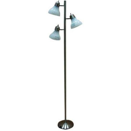 Mainstays Track Tree Floor Lamp Brushed Nickel Walmart Com