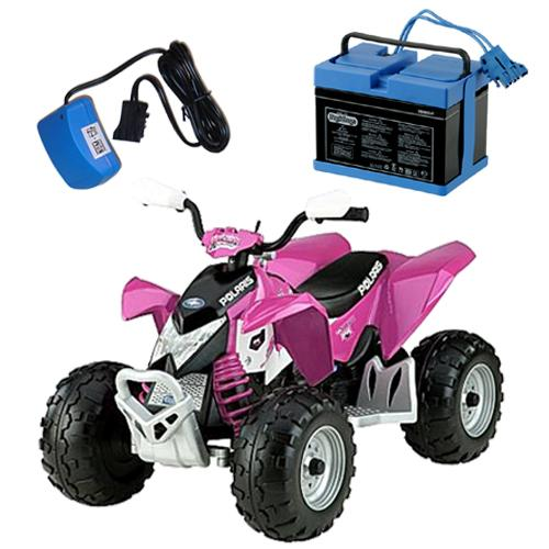 Peg Perego IGOR0045KIT  Pink Polaris Outlaw Ride On Toy Kit - Pink