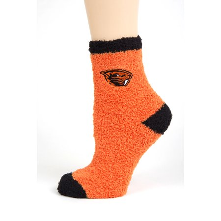 (Oregon State Beavers Solid Fuzzy Sock)