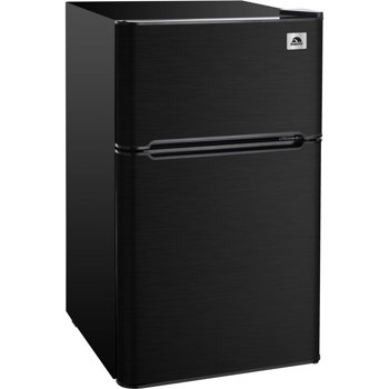IGLOO 3.2 cu ft 2 Door Compact Fridge Stainless Steel Design