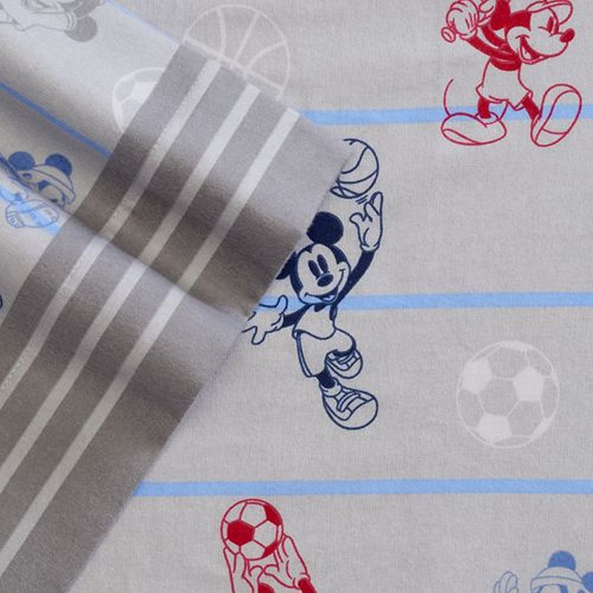 Disney Mickey Mouse Flannel Sheet Set Twin Bed Sheets Bedding