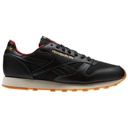 Reebok - Reebok CN2276  Mens Classic Leather LJ Black Primal Red Gold  Sneakers (11 D(M) US Men) - Walmart.com 5a367226d
