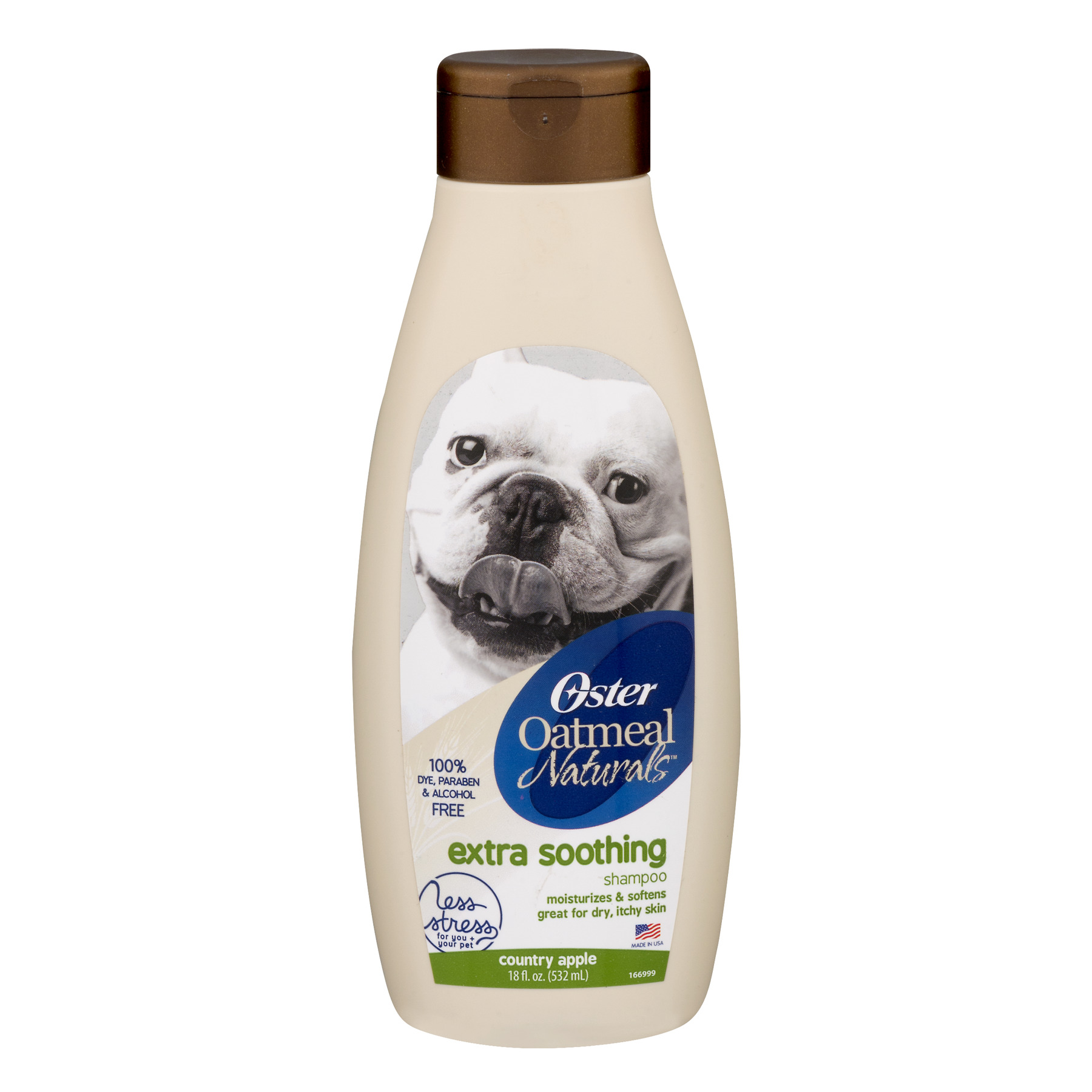 Oster Oatmeal Naturals Extra Soothing Dog Shampoo with Country Apple Scent, 18 oz.