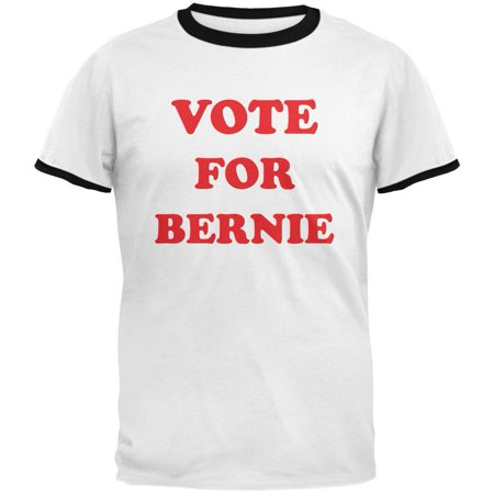 Vote For Pedro Shirt (Election 2016 Sanders Vote for Bernie Pedro White-Black Men's Ringer)