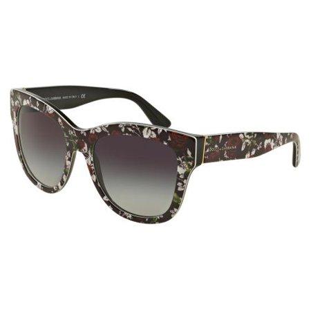 6e98a2781e Dolce   Gabbana - DOLCE   GABBANA Sunglasses DG 4270 30198G Top Print Rose Black  55MM - Walmart.com