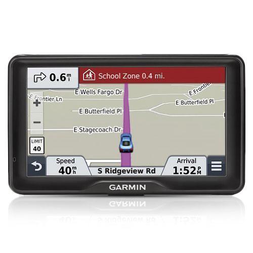 "Garmin 2757LM Automobile Portable GPS Navigator - 7"" - Touchscreen - Speaker - microSD - Voice Prompt, Text-to-Speech, Lane Assist, Junction View - USB - 1 Hour - Preloaded Maps - Lifetime Map"