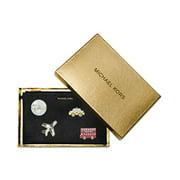 MICHAEL Michael Kors Womens Leather Signature Clutch Handbag Black Small
