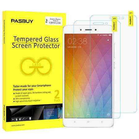 Screen Protector RetailBox [2 Pack] Premium Tempered Glass Film for Xiaomi Redmi Note