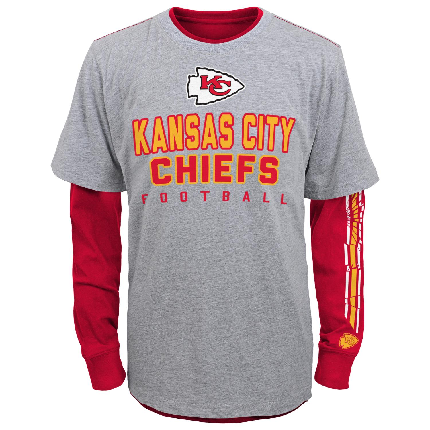 "Kansas City Chiefs Youth NFL ""Intact"" 3 in 1 T-Shirt Combo Set"