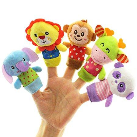 Finger Puppet Toys, Aijiaye 5pcs Soft Animal Member Puppet, Finger Baby Plush Toys, Children's Educational Toys Finger Puppet Toys, Aijiaye 5pcs Soft Animal Member Puppet, Finger Baby Plush Toys, Children's Educational Toys