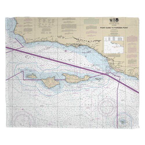 Breakwater Bay Reedsburg Point Dume to Purisima Point CA Nautical Chart Throw