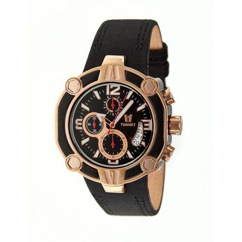 Vuarnet Snowest Circular Men's Watch with Black / Rose Gold Case