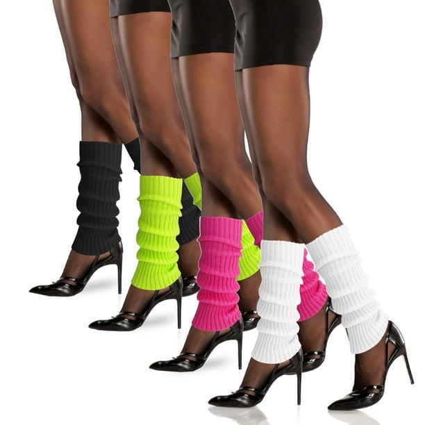 Women Crochet Knit Stocking Winter Knee Leg Warmers Long Socks Boot Cuff Toppers