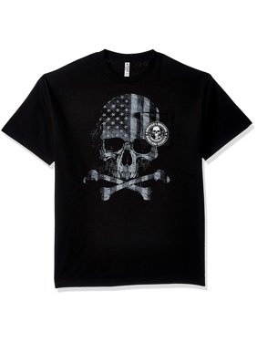 d5ac7e72 Product Image Hot Leathers Mens Patriotic 2nd Amendment Skull Pocket Short  Sleeve T-Shirt (Black,