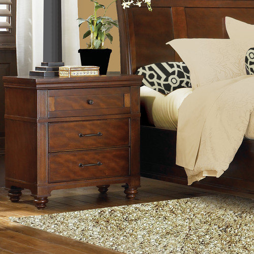 Carolina Home Collection Auburn 3 Drawer Nightstand