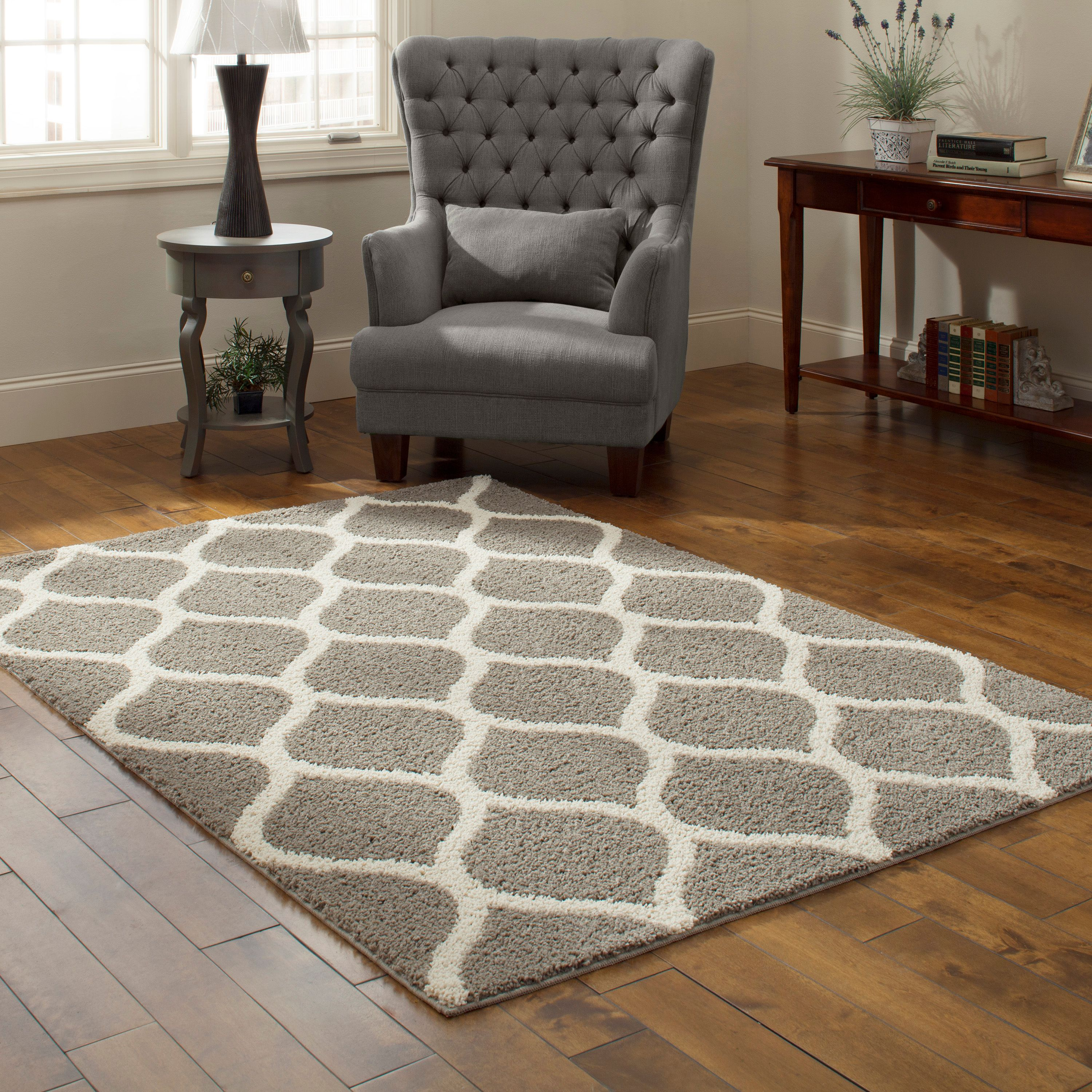 Mainstays Ogee 2 Color Shag Area Rug Or Runner Image 1 Of 3
