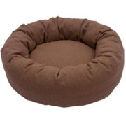 Iconic Pet Luxury Nestlez Round Pet Bed, Light Brown, Small