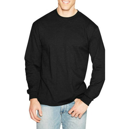 Hanes Men's Premium Beefy-T Cotton Long Sleeve T-Shirt, up to 3XL ...