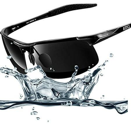 b664d5f3ea ATTCL sunglasses - ATTCL 2015 Al-Mg Metal Frame Driving Polarized Sunglasses  for Men Black 8177 - Walmart.com
