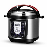 6Qt 6L 1000W 8 in 1 Programmable Electric Pressure Cooker Non-Stick Stainless Steel with LED Display Screen, Rice Cooker, Slow Cooker, Cake Maker, Bean Cooker, Meat Stew and Warmer