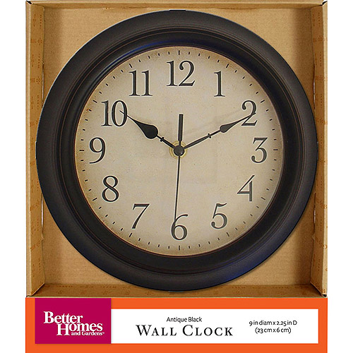 Lovely Better Homes And Gardens Antique Black Wall Clock