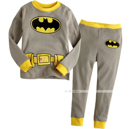 Baby Toddler Boy Kid Batman Clothes Sleepwear Pajama Pjs 2 Pcs Set 1-7 Years Old (Superhero Pjs For Kids)